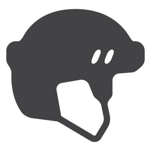 Icono plano de casco de hockey Transparent PNG