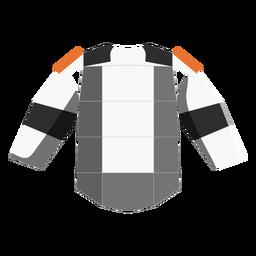 Ícone de almofadas de ombro de hóquei