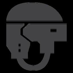Hockey deporte casco icono plana