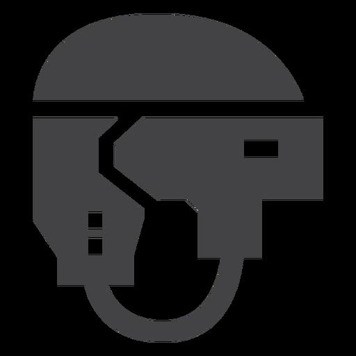 Icono plano de casco de deporte de hockey