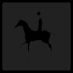 Cavalo de volta ícone quadrado