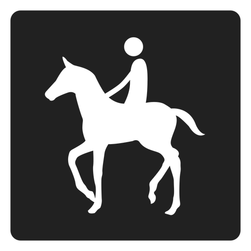 Horse back riding square icon Transparent PNG