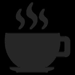 Ícone plana de xícara de café quente