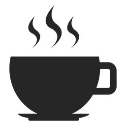 Icono plano de taza de café caliente