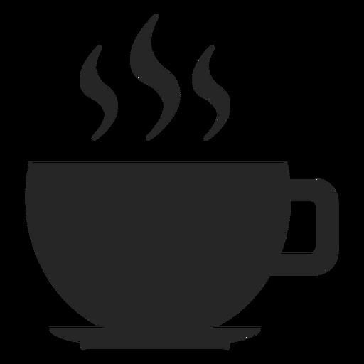 Icono plano de taza de caf? caliente
