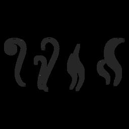 Heißes Getränk Elemente Symbol