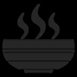 Heiße Suppenschüssel flach Symbol