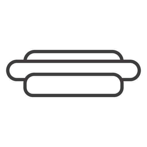 Hotdog sandwich stroke icon Transparent PNG