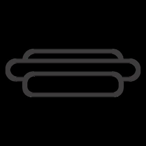 Icono de trazo de sándwich de hotdog