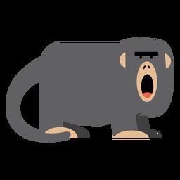 Ilustración de mono aullador