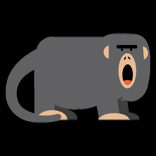 Ilustração do macaco Howler Transparent PNG