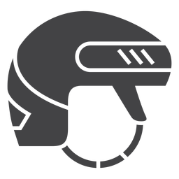 Ice hockey helmet flat icon