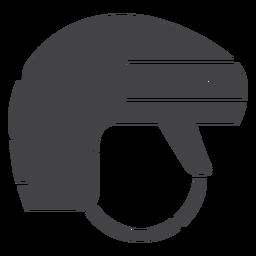 Icono plano de casco de hockey sobre hielo