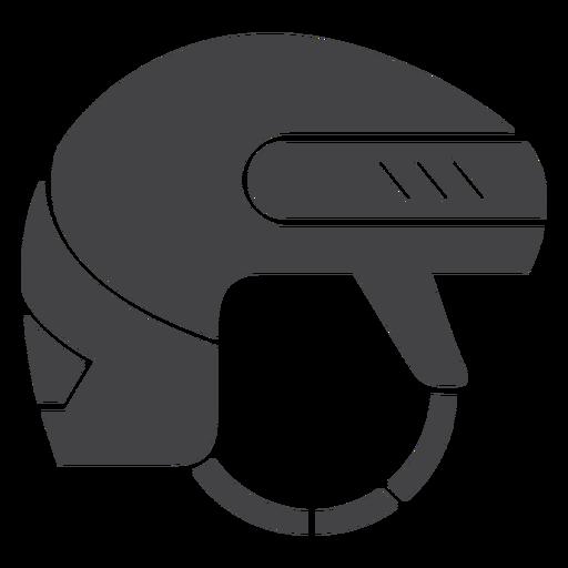 Ícone plana do capacete de hóquei no gelo Transparent PNG