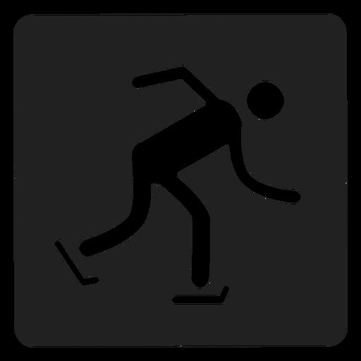 Ice skating square icon skating Transparent PNG