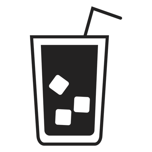 Ice tea glass flat icon Transparent PNG