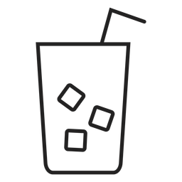 Ice tea glass icon