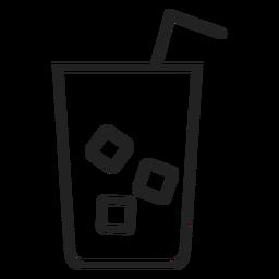 Icono de vaso de té helado