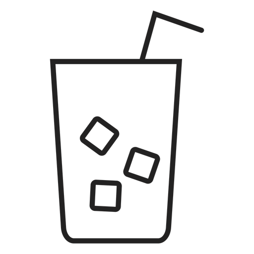 Ice tea glass icon Transparent PNG