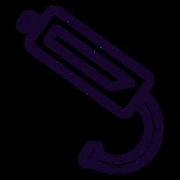 Icono de trazo de bobina de encendido