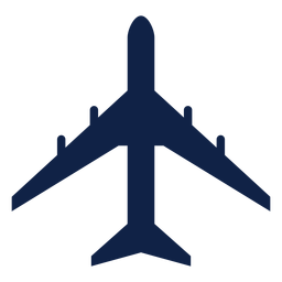 Il 86 airplane top view silhouette