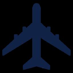 Il 86 avión vista superior silueta