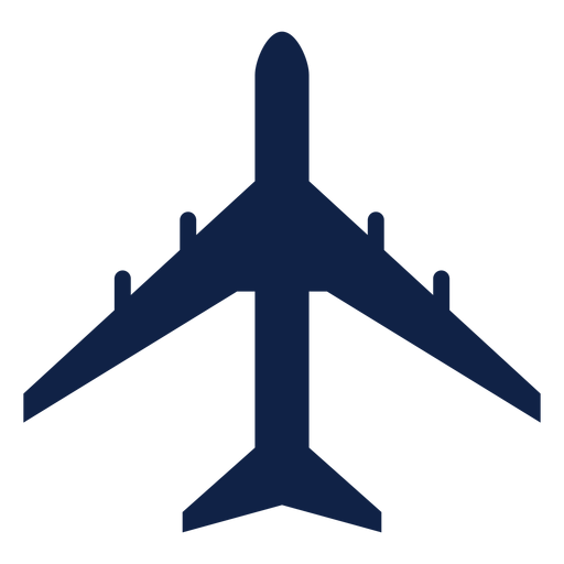 Il 86 airplane top view silhouette Transparent PNG