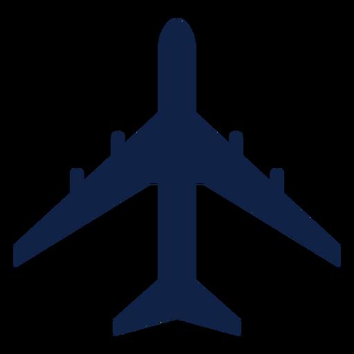 Silhueta da vista superior do avião Il 86