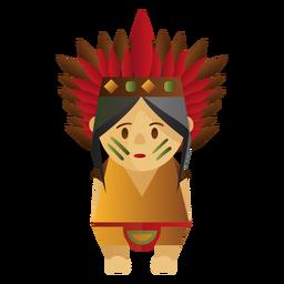 Ilustración del personaje indio