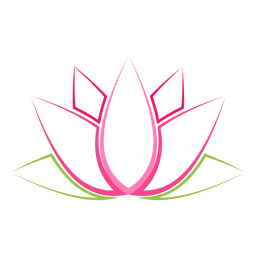 Indian lotus flower clipart
