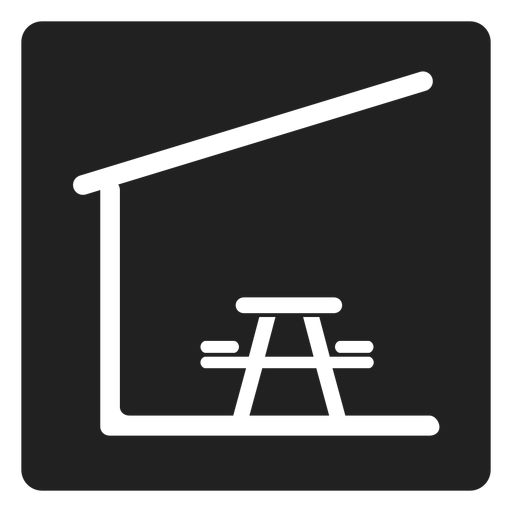 Indoor picnic table and chair square icon Transparent PNG