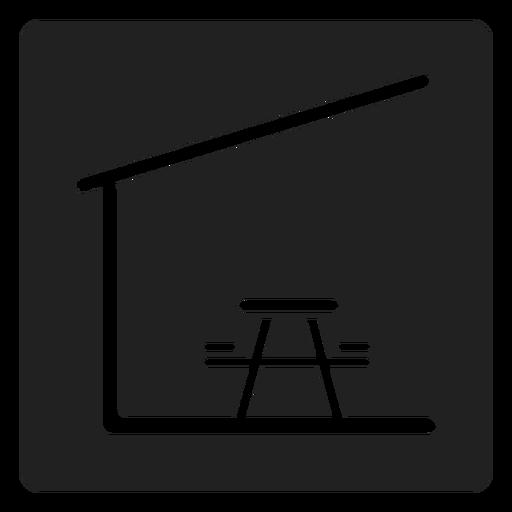 Mesa de piquenique coberta e cadeira ícone quadrado Transparent PNG