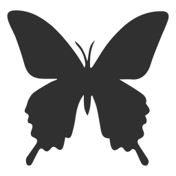 Insect butterfly silhouette
