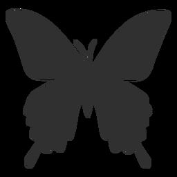 Insecto mariposa silueta