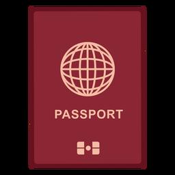 Ícone de passaporte internacional