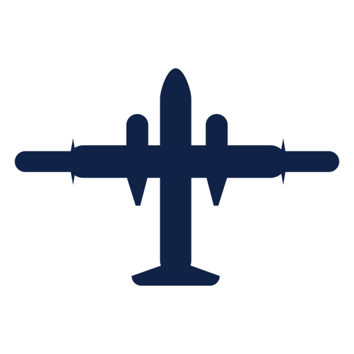 Jet airplane top view silhouette Transparent PNG