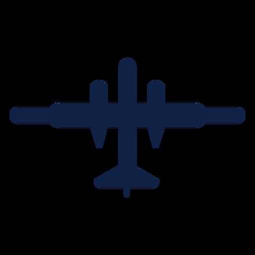 Jet plane top view silhouette Transparent PNG