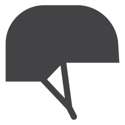 Ícone plana de capacete de jóquei