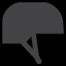 Icono plano de casco de jinete
