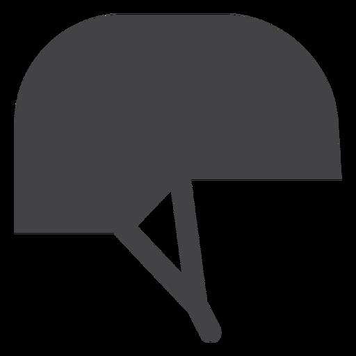 Ícone plana de capacete de jóquei Transparent PNG