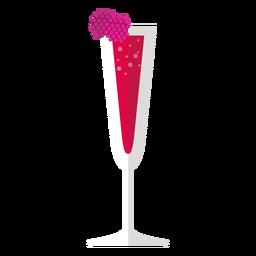 Kir royale cocktail ícone
