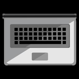 Icono de vista superior de la computadora portátil