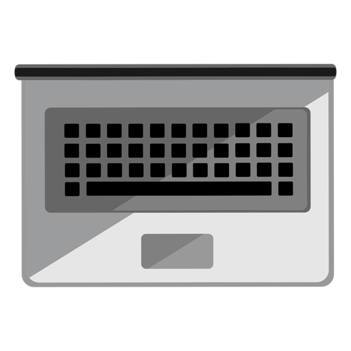 Laptop top view icon Transparent PNG