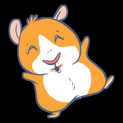 Lazy guinea pig cartoon Transparent PNG