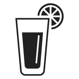 Ícone plana de vidro de limonada