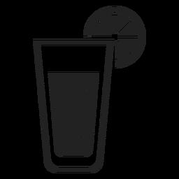 Limonade Glas flach Symbol