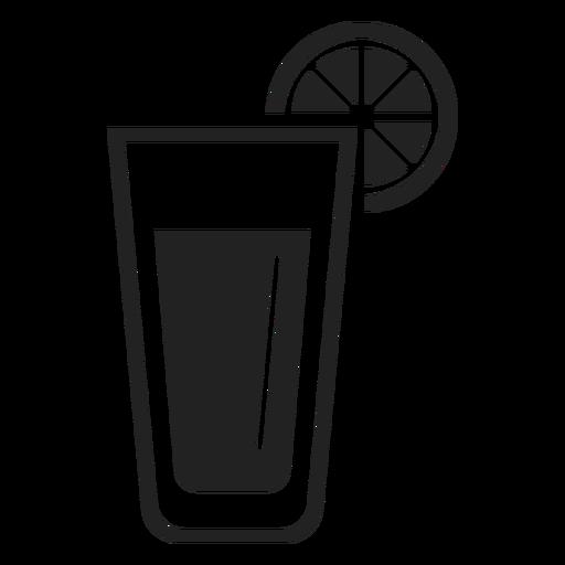 Lemonade glass flat icon Transparent PNG