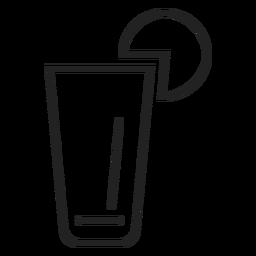 Icono de vaso de limonada
