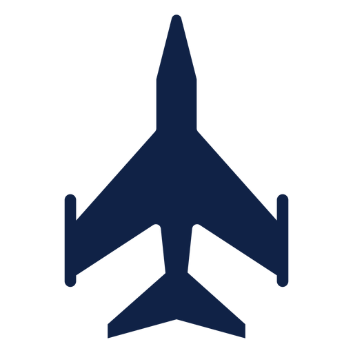 Light fighter airplane top view silhouette Transparent PNG