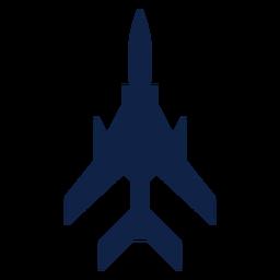 Silhueta de vista superior do avião de combate leve